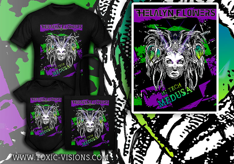 Hi-Tech Medusa merchandise design  by Toxic Visions / © Copyright. All rights reserved