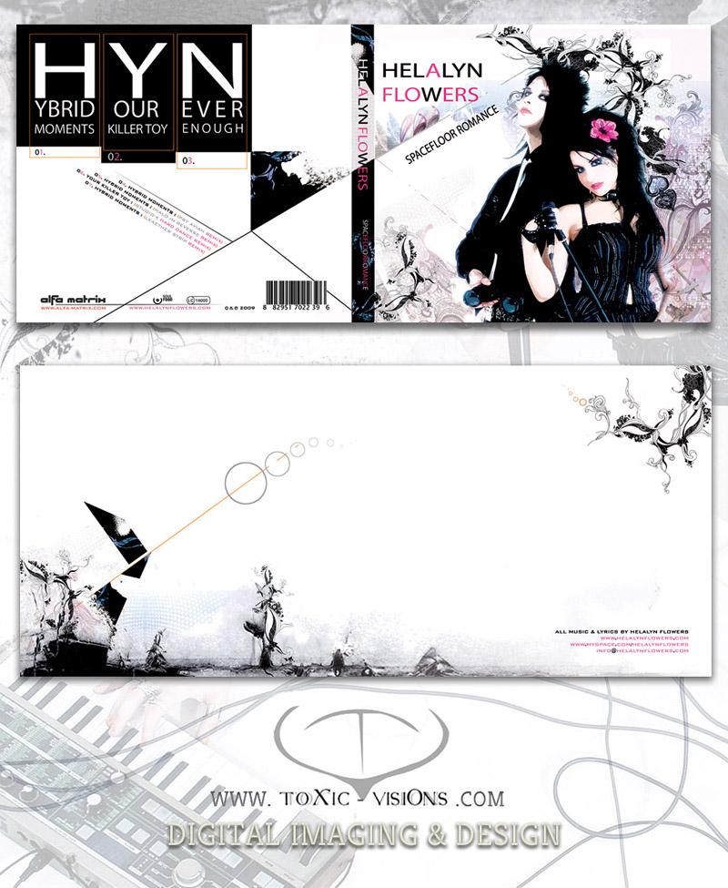 Helalyn Flowers - Plaestik / Booklet Artwork - 2CD digipack box layout by Toxic Visions / © Copyright. All rights reserved