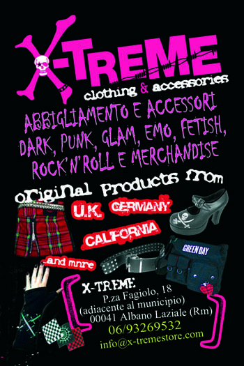 X-Treme shop - promo flyerby Toxic Visions /©Copyright. All rights reserved
