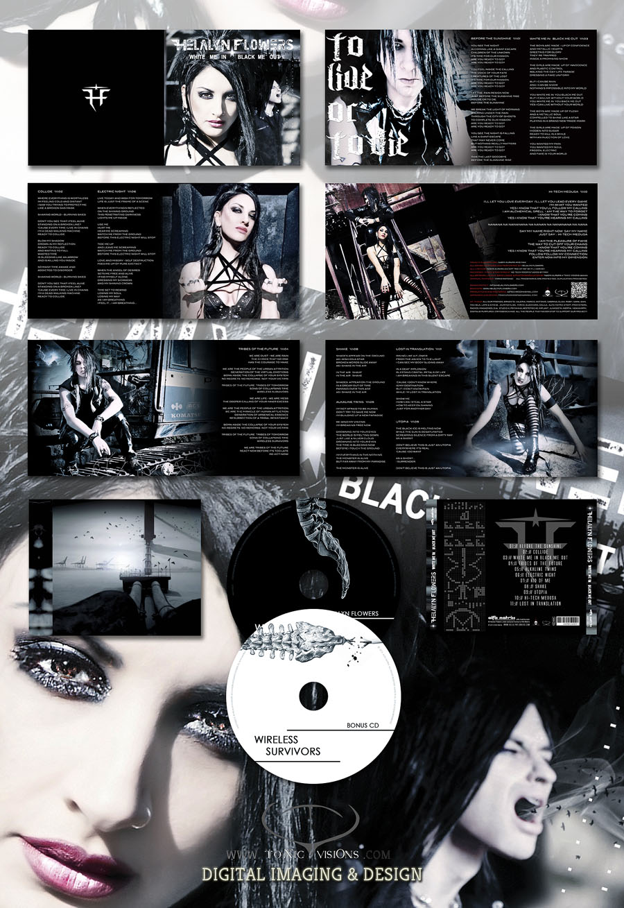 White Me in Black Me Out - 2CD digipack box layout