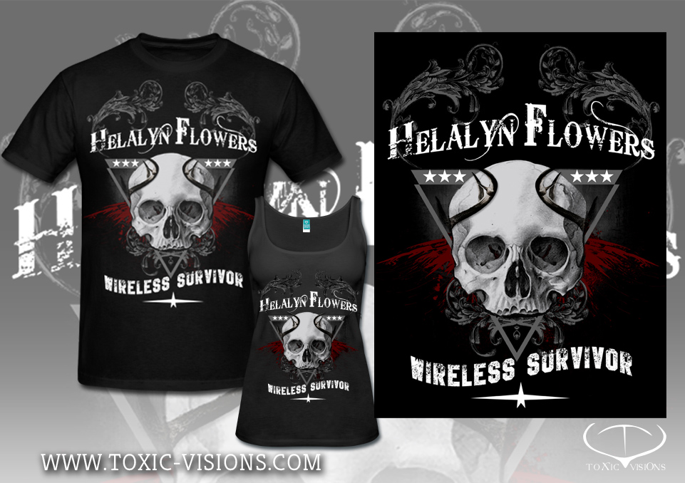 Helalyn Flowers 'Wireless Survivor' merchandise design by Toxic Visions / © Copyright. All rights reserved