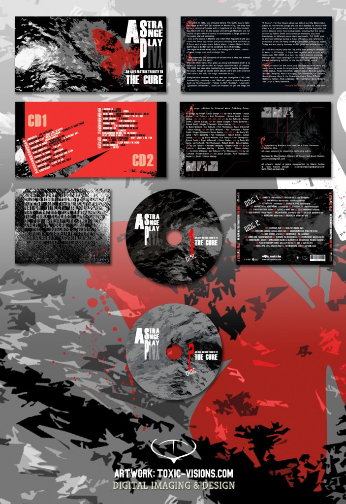A Strange Play - An Alfa Matrix Tribute to The Cure - 2CD jewel case layout