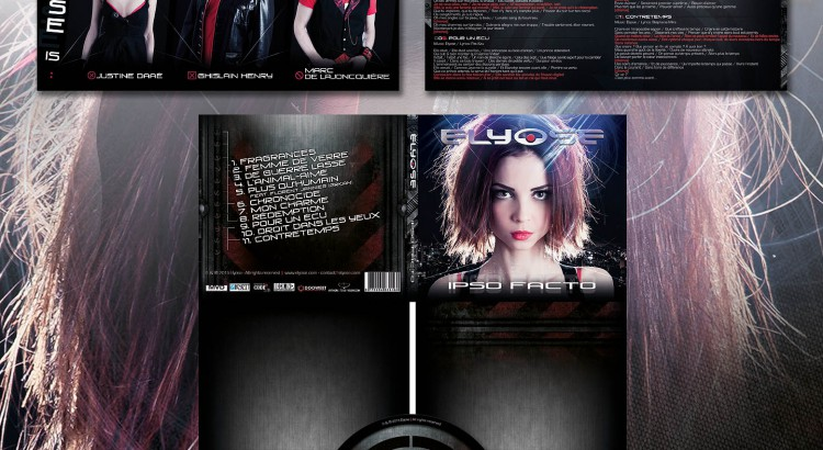 Elyose – Ipso Facto / 8 pages booklet 2 folders digipack CD - design by Noemi Aurora  - Toxic Visions Design / © Copyright. All rights reserved