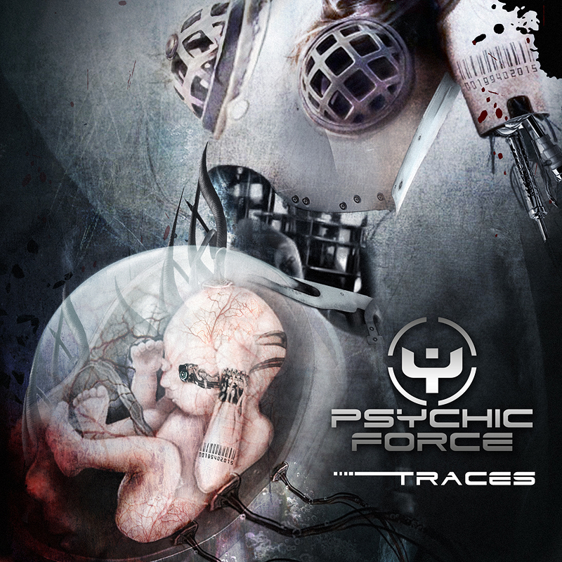 THE PSYCHIC FORCE 'Traces' ' Cover Artwork by Toxic Visions Design